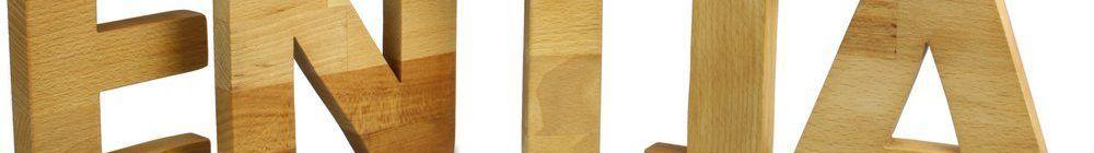 Holz-Buchstaben
