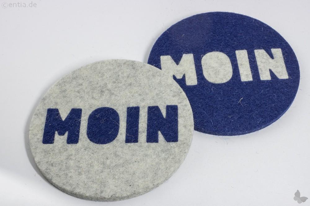 """Untersetzer-Set """"Moin"""""""