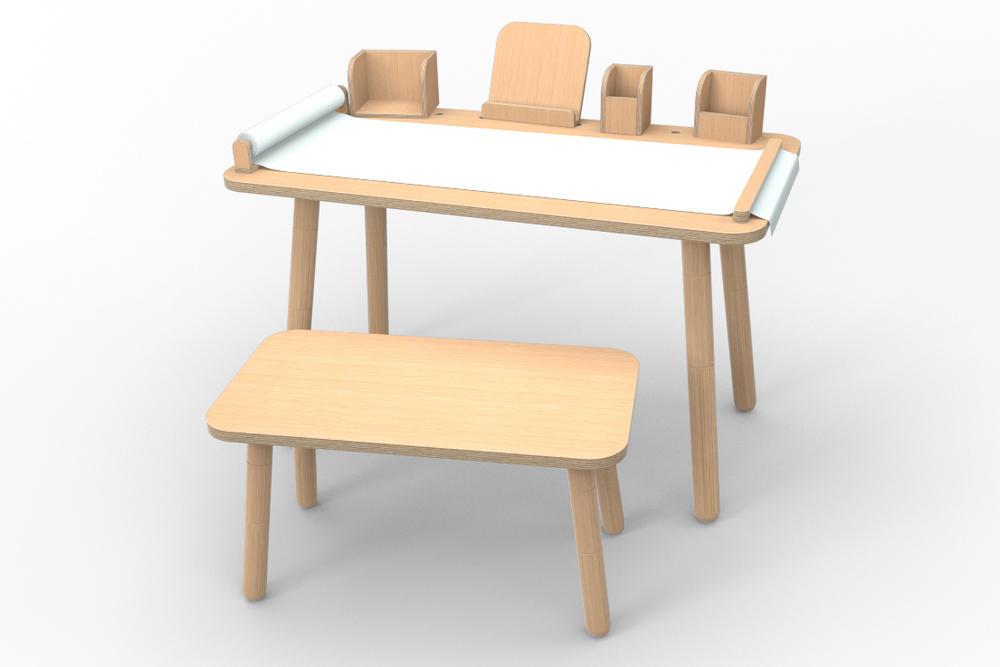 """""""growing table"""" Set 9-teilig - Buche"""