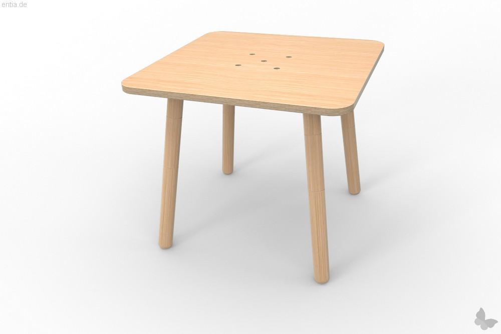 """growing table"" Tisch 80x80cm - Buche"