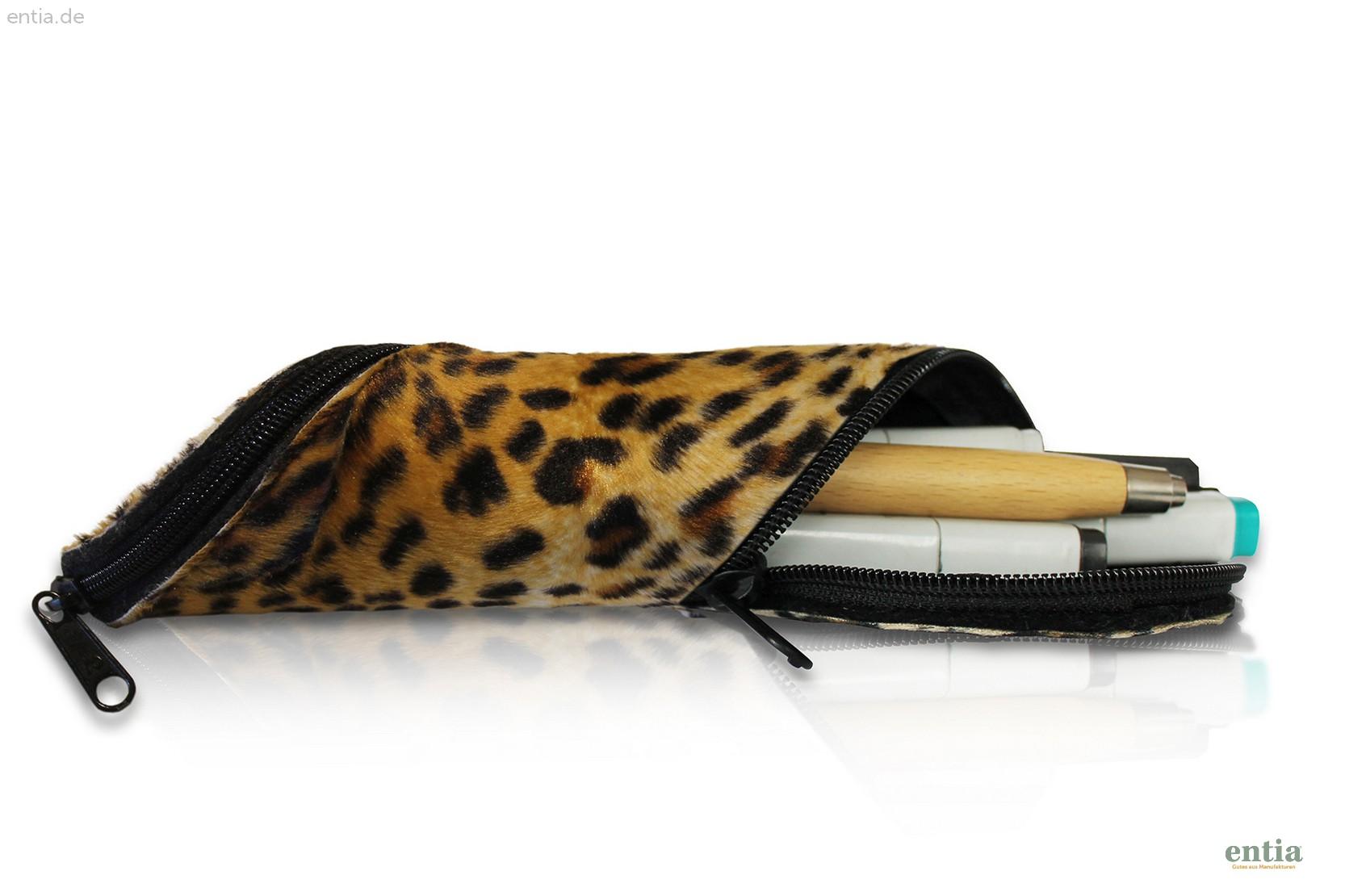 Stifte- und Brillen-Mäppchen im Leoparden-Look