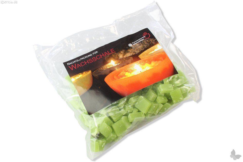 Mitmachkerze Wachsschale, Nachfüllpackung grün