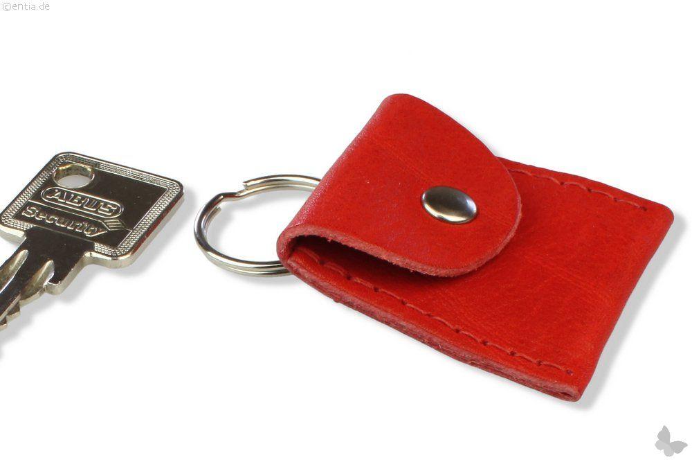 Schlüsselanhänger Leder Münze