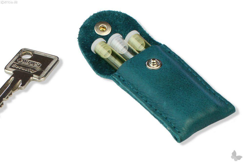 Schlüsselanhänger Leder Globuli