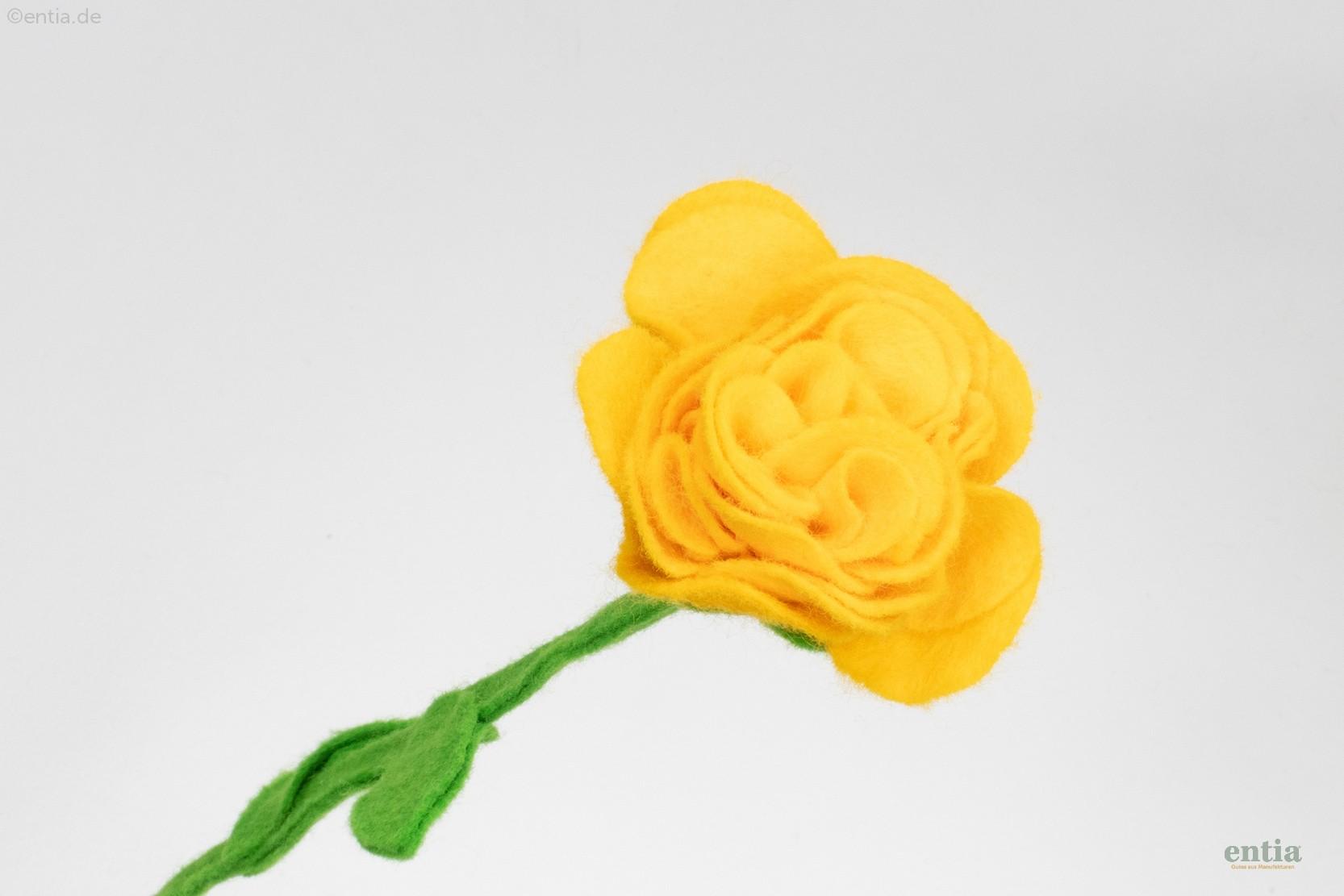 Filzblume gelb