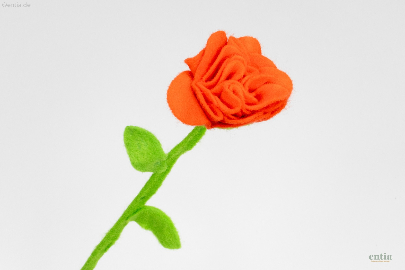 Filzblume orange