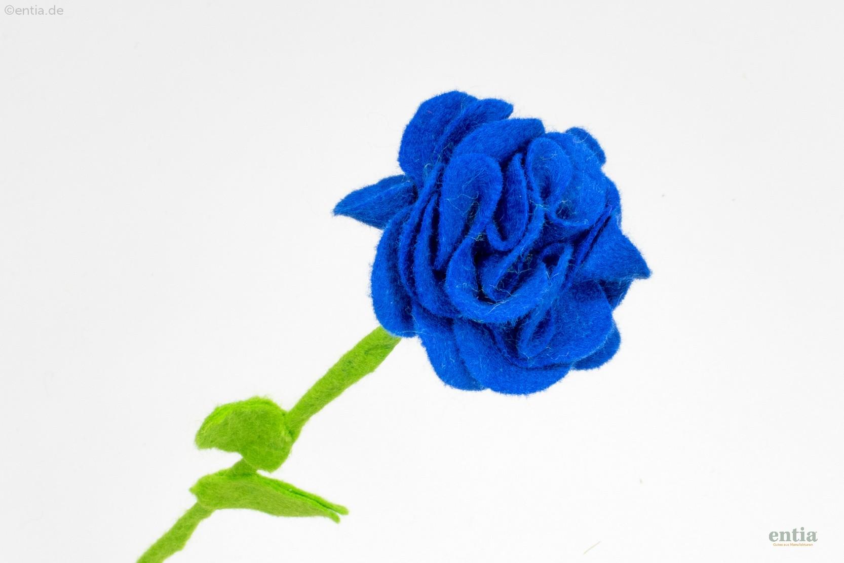 Filzblume blau