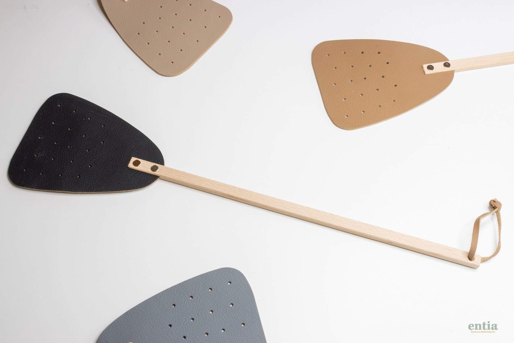 Fliegenklatsche mit Leder