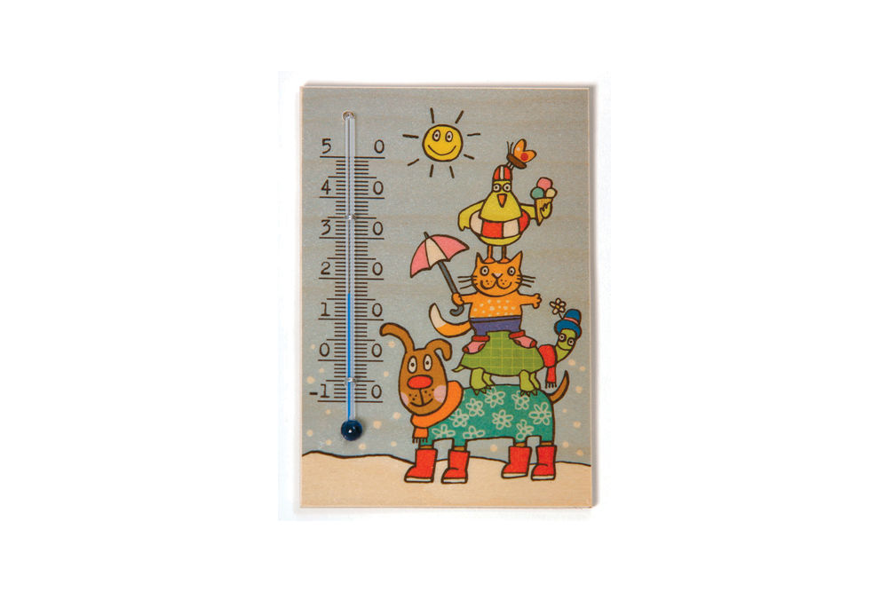 """Thermometer """"Vier Freunde"""""""