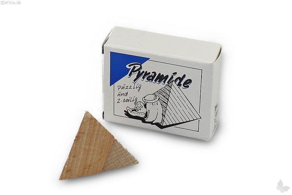 "Mini-3D-Puzzle ""Pyramide"" zweiteilig eckig"
