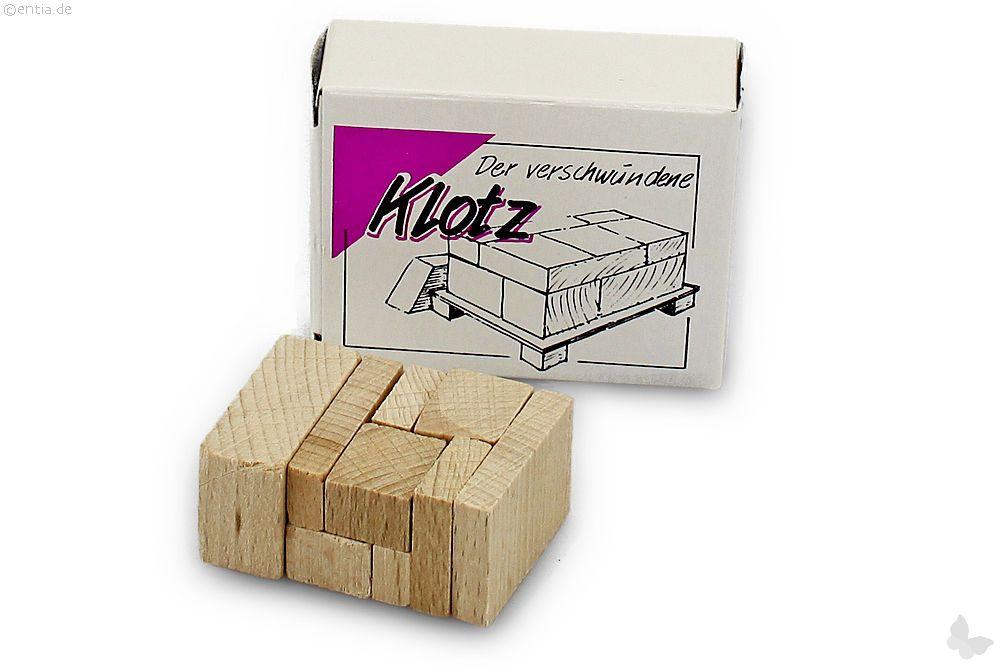 "Mini-3D-Puzzle ""Versteckter Klotz"""