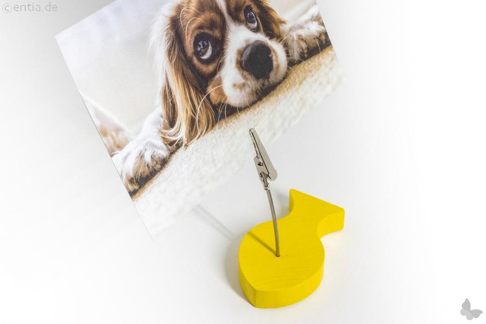 Klammerfisch Bilderhalter, gelb