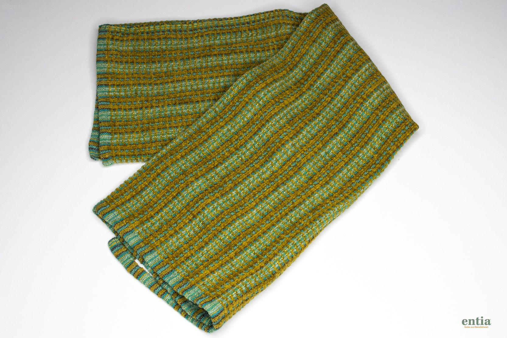 "Handtuch ""Sandra"" aus Halbleinen, Farbe Moos, handgewebt"