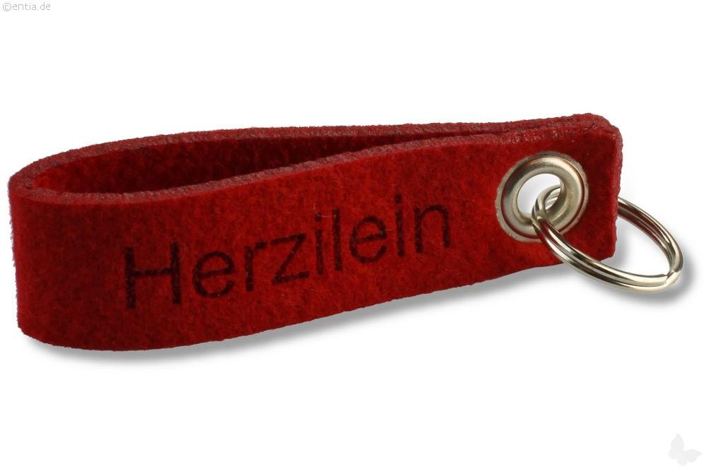 """Filz-Schlüsselanhänger """"Herzilein"""""""