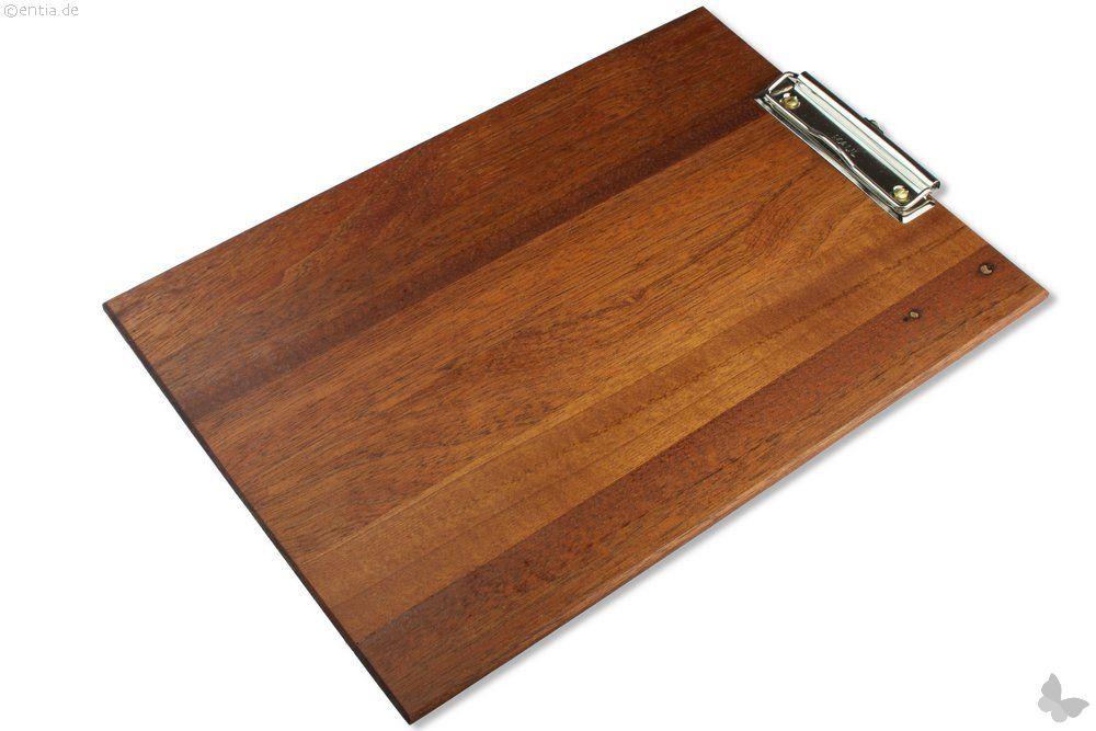 Klemmbrett aus stilvollem Holz, A4, dunkel