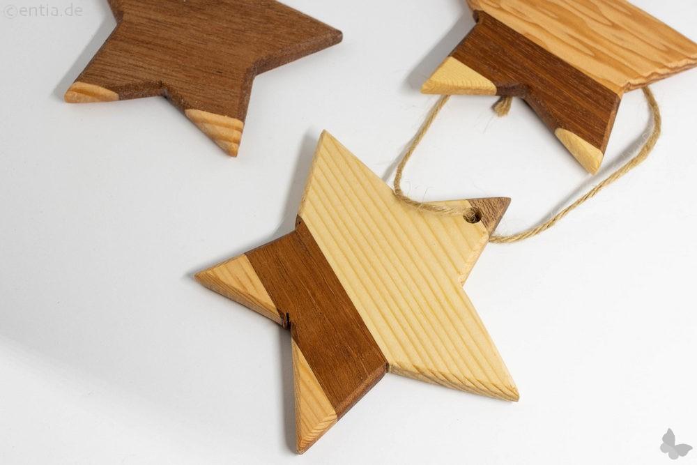 Holzstern als Christbaumschmuck für Ihren Weihnachtsbaum, klein
