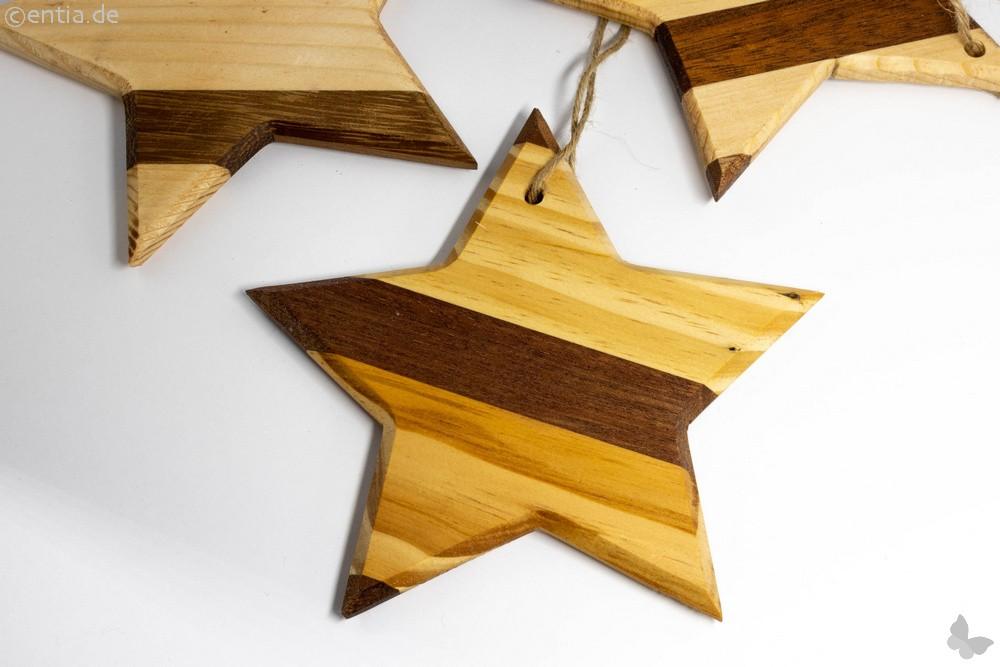 Holzstern als Christbaumschmuck für Ihren Weihnachtsbaum, mittel
