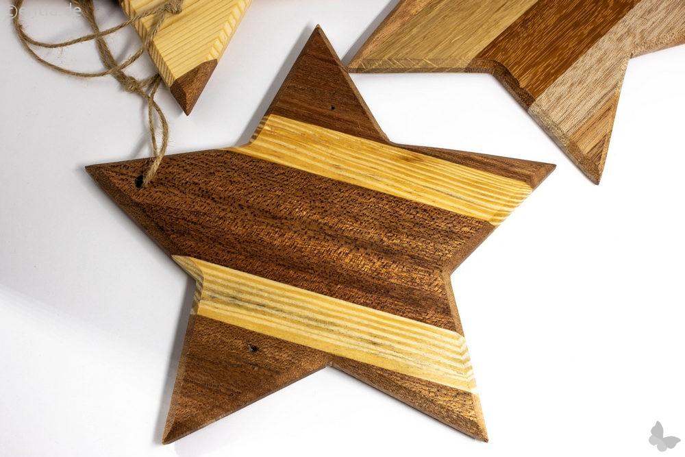 Holzstern als Christbaumschmuck für Ihren Weihnachtsbaum, groß