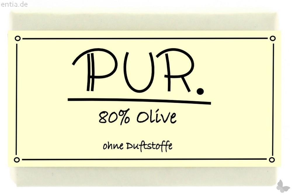 """Olivenseife """"pur"""" - Blockseife"""