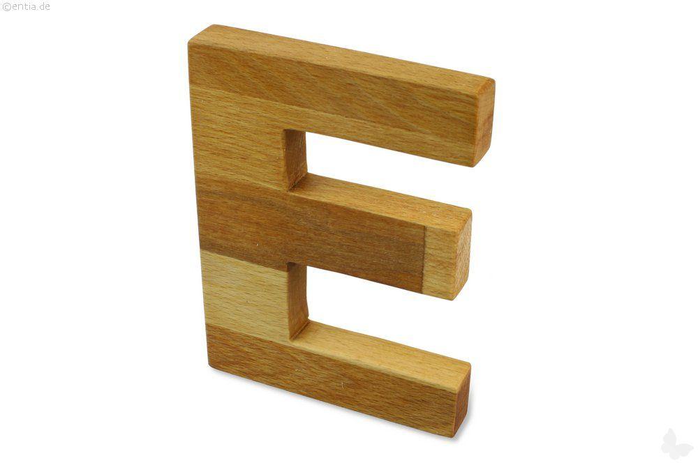 Holz-Buchstabe E