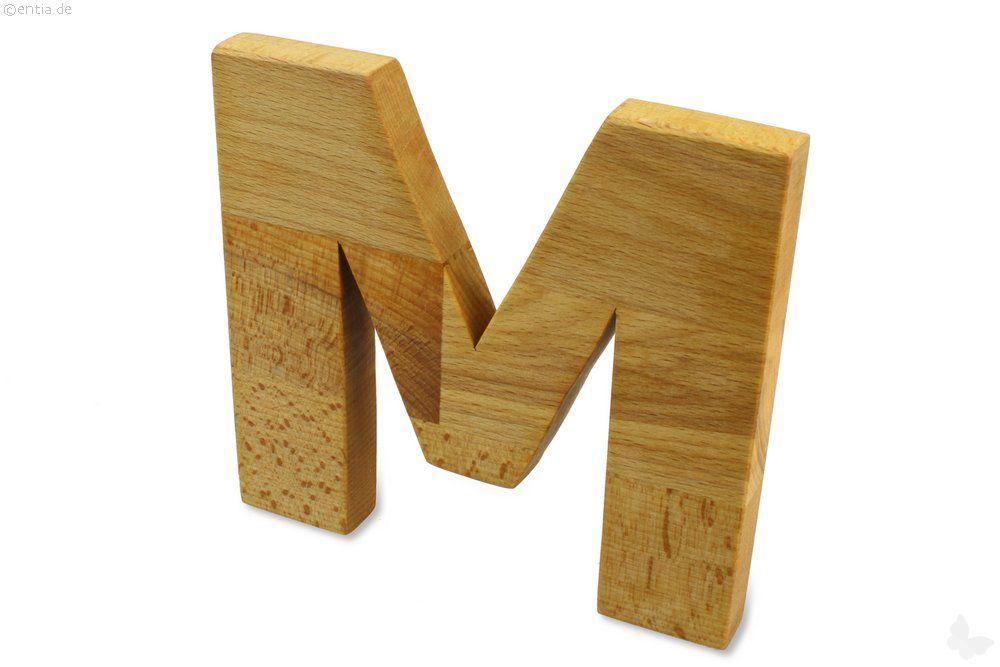 Holz-Buchstabe M