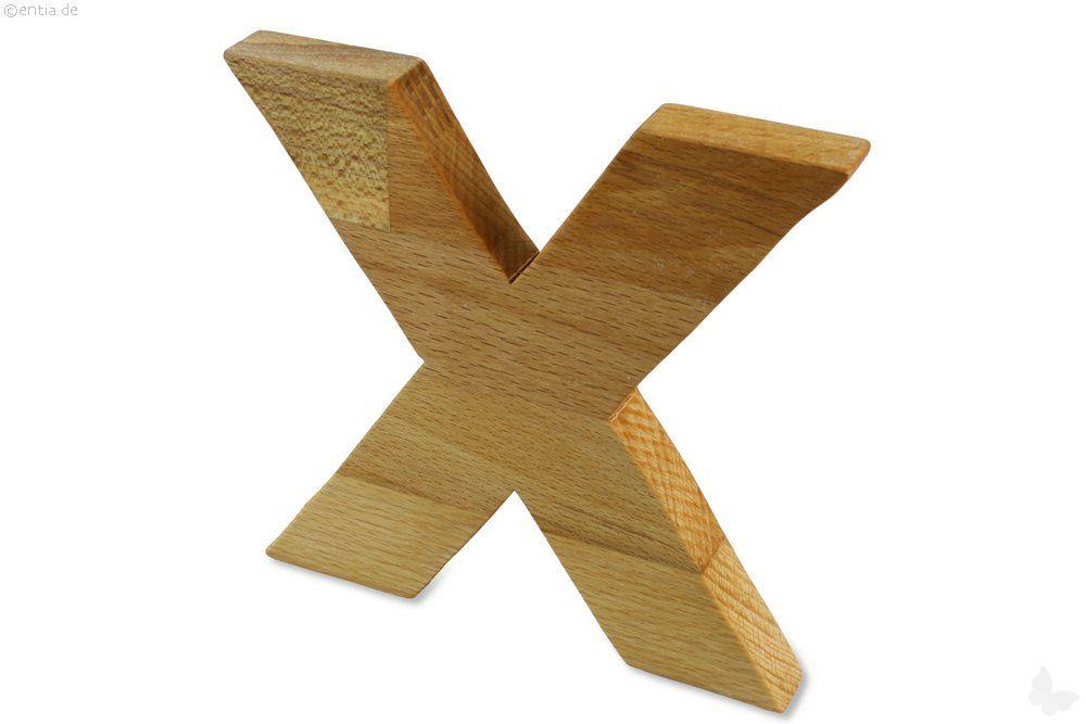 Holz-Buchstabe X