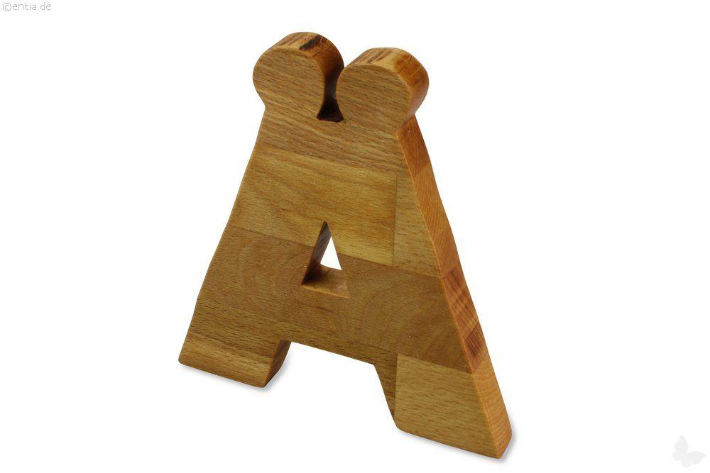 Holz-Buchstabe Ä (Umlaut)