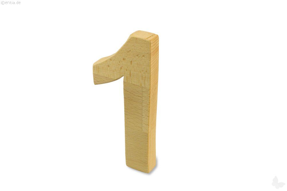 Holz-Ziffer Eins