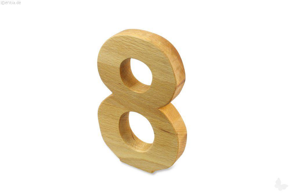 Holz-Ziffer Acht