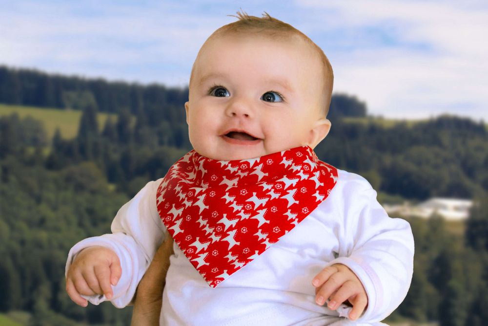 Halstuch für Baby und Kleinkind, rot