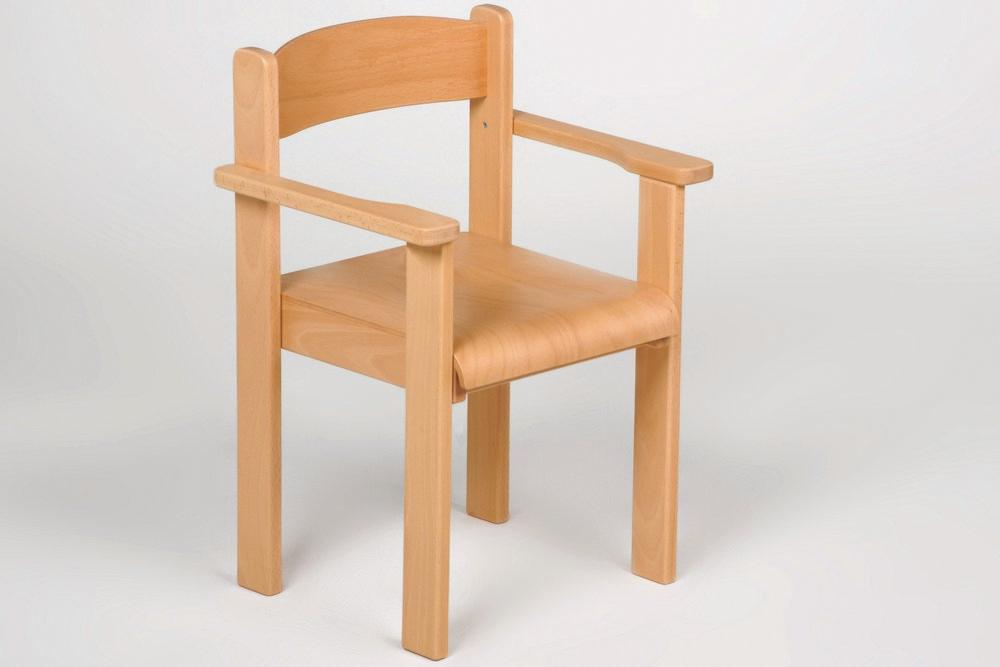 Kindermöbel Stuhl mit Armlehnen, Buche
