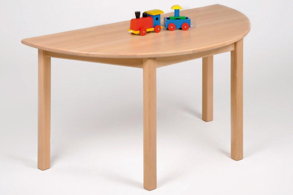 Kindermöbel Tisch halbrund, Buche