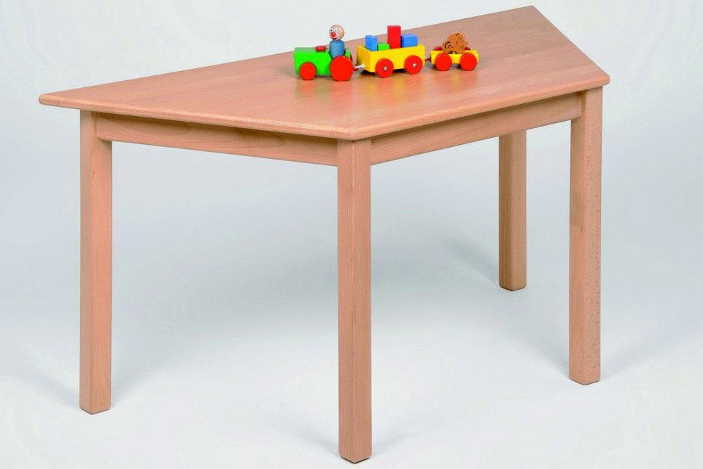 Kindermöbel Tisch Trapez, Buche