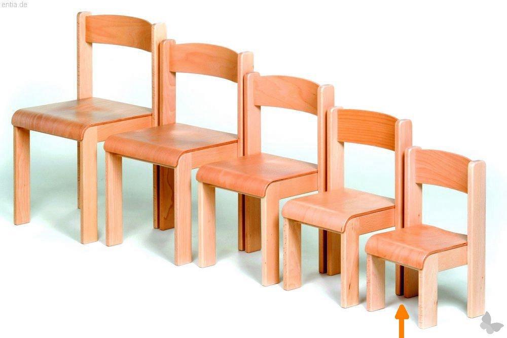 """Kindermöbel Stapelstuhl """"Bärenstark"""" - Sitzhöhe 21cm"""