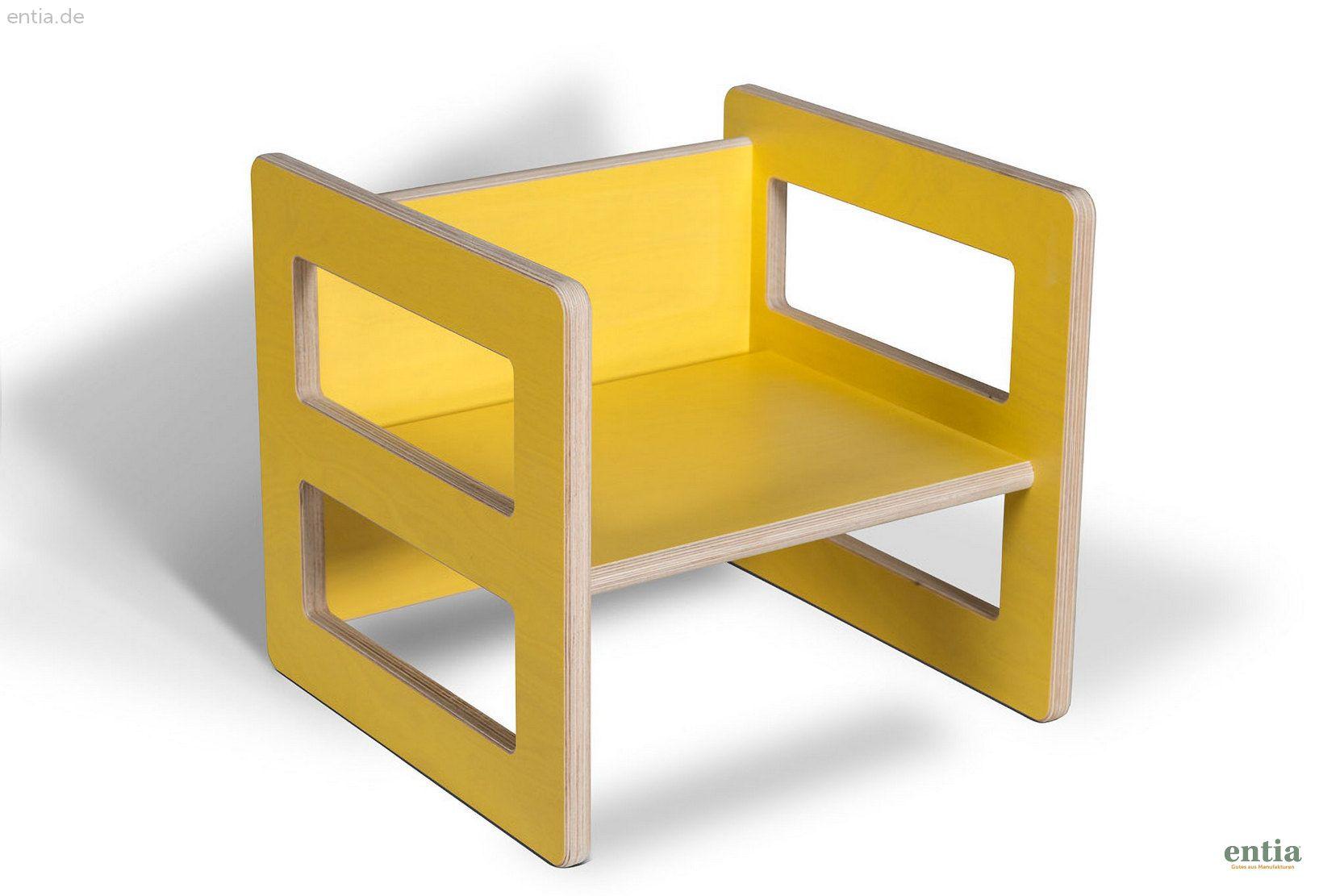 Kindermöbel Wendehocker gelb