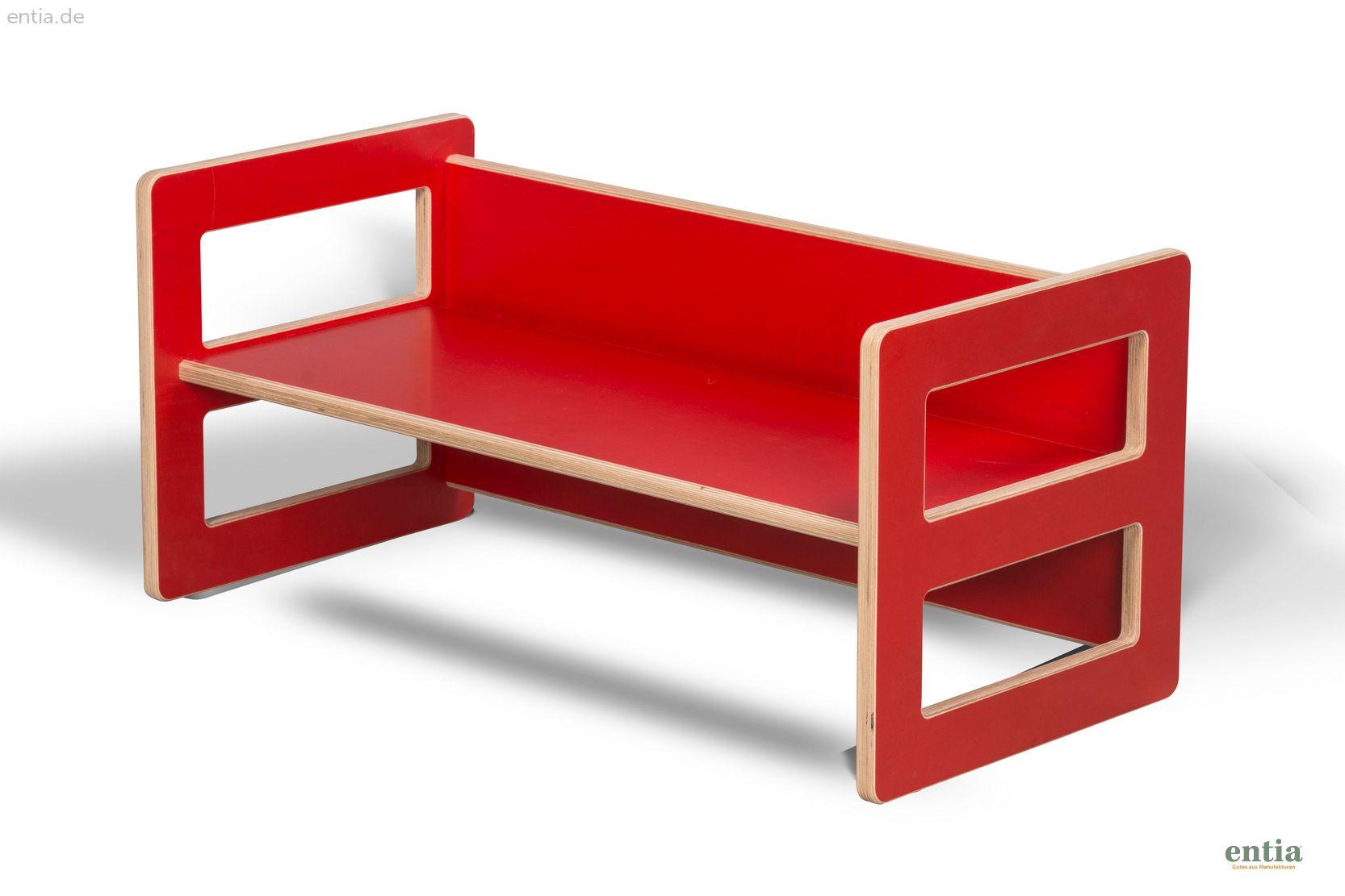 Kindermöbel Wendebank rot