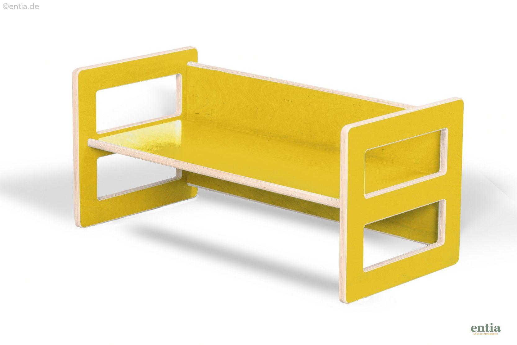 Kindermöbel Wendebank gelb