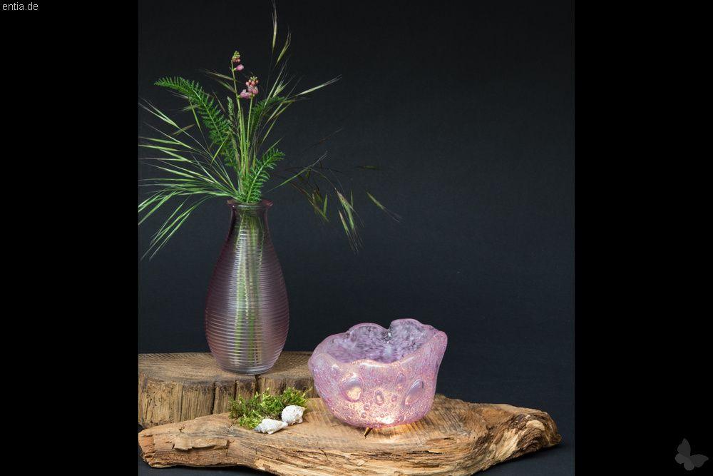 """Teelicht-Glas """"Bubbles"""", rosa"""