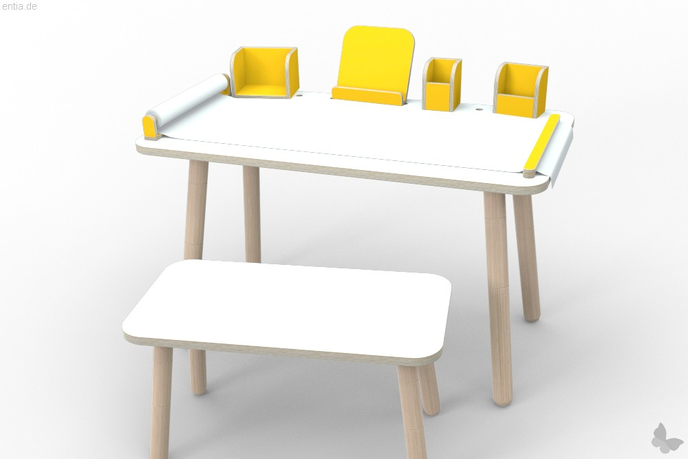 """growing table"" Buchaufsteller - sonnengelb"