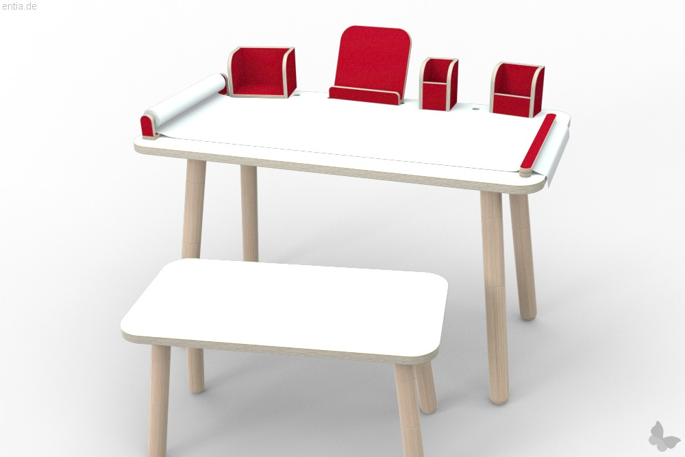 """growing table"" Buchaufsteller - rubinrot"