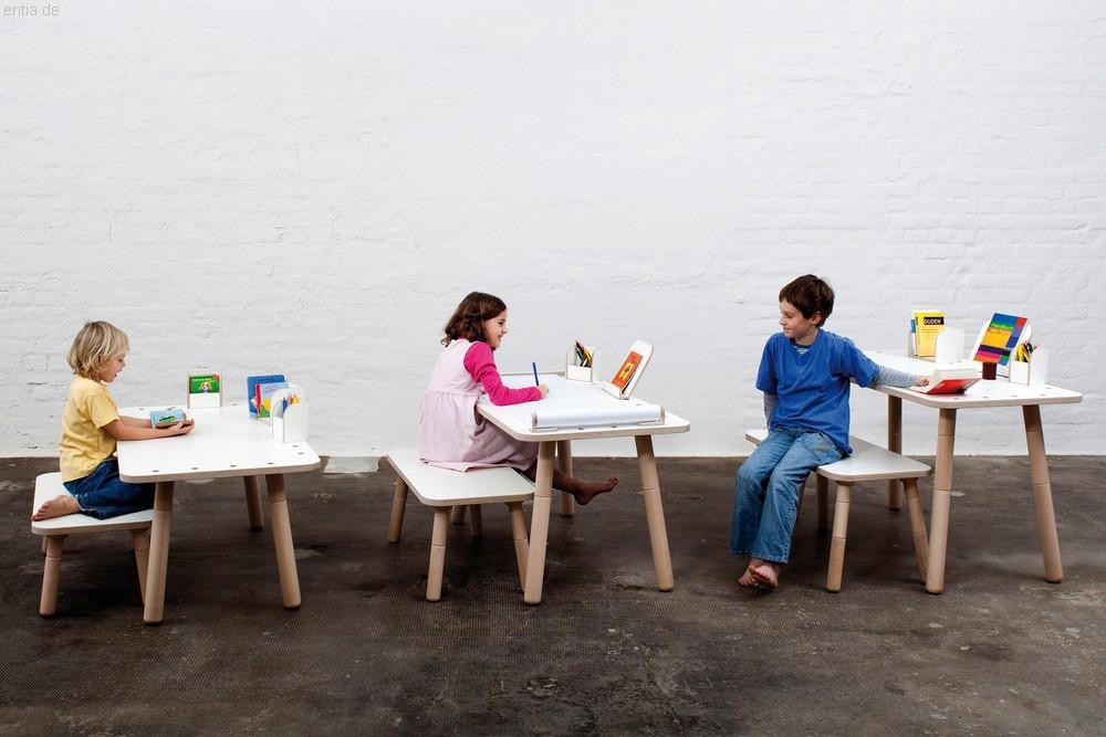 """growing table"" Kindertisch 65x120cm - reinweiss"