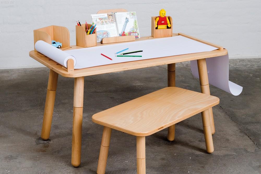 """""""growing table"""" Kindertisch 65x120cm - Buche"""