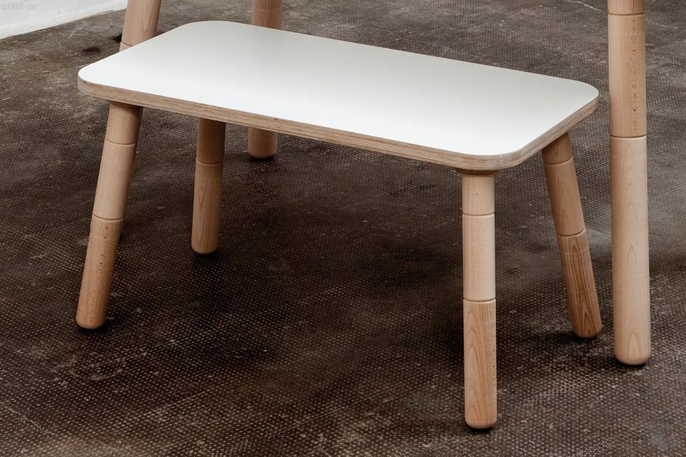 """growing table"" Kinder-Sitzbank 42x80cm - reinweiss"
