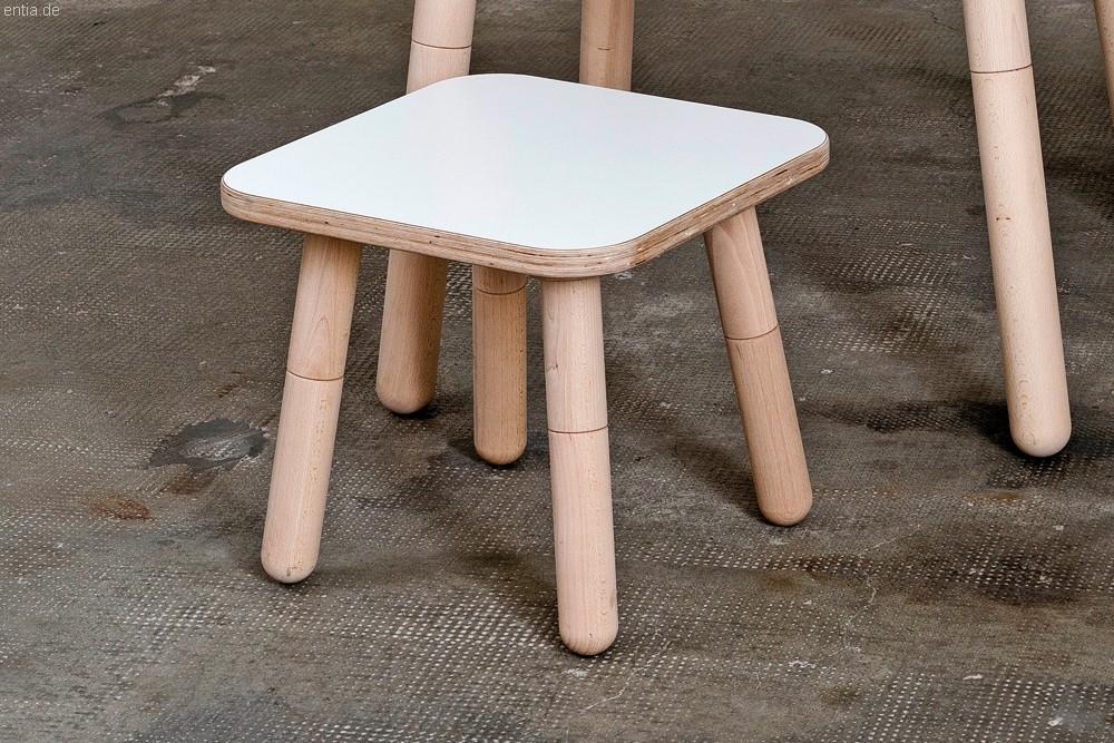 """""""growing table"""" Hocker 42x42cm - reinweiss"""