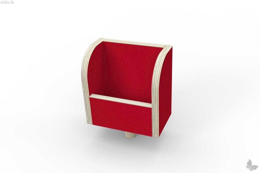 """growing table"" Zettelbox - rubinrot"