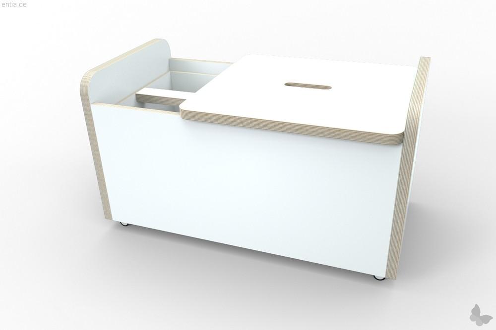 """growing table"" rolling box, Deckel kurz - reinweiss"