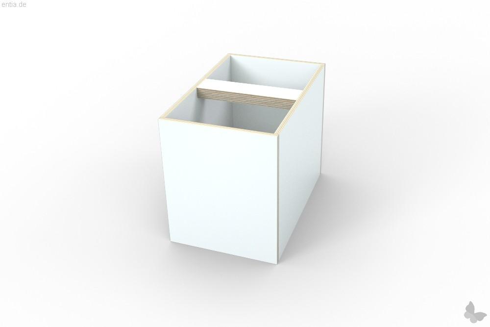 """growing table"" rolling box, Einsatz - reinweiss"