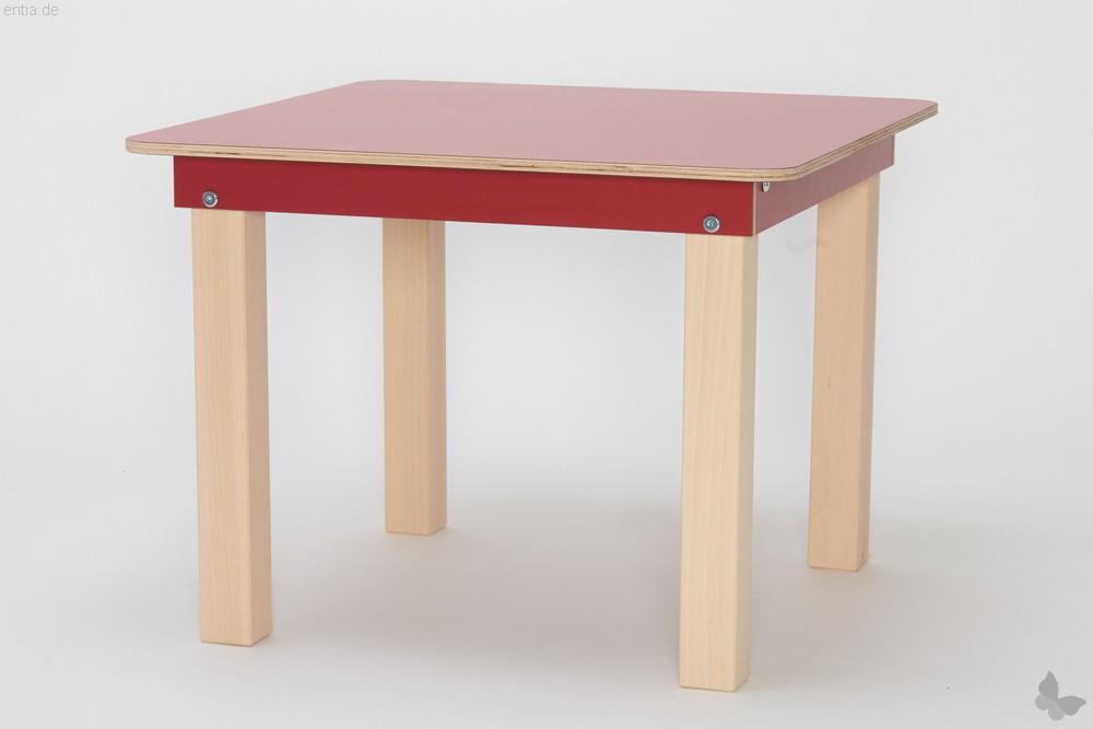"""""""Start Up"""" Kinder-Tisch 60x60cm - rubinrot"""