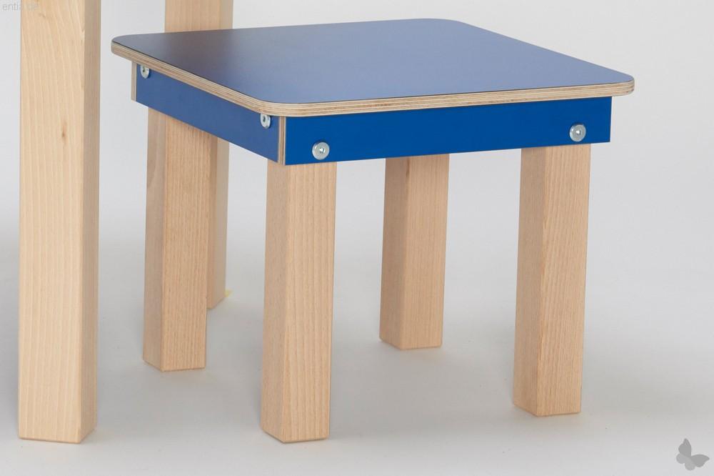 """""""Start Up"""" Kinder-Hocker 32x32cm - enzianblau"""