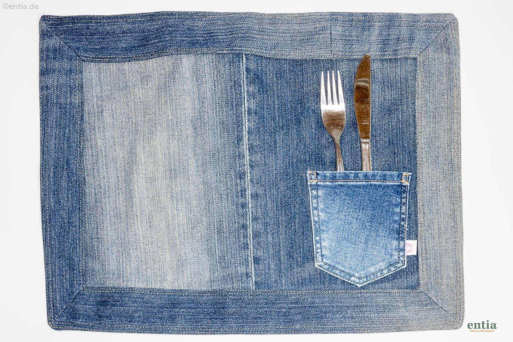 Tischset Jeans